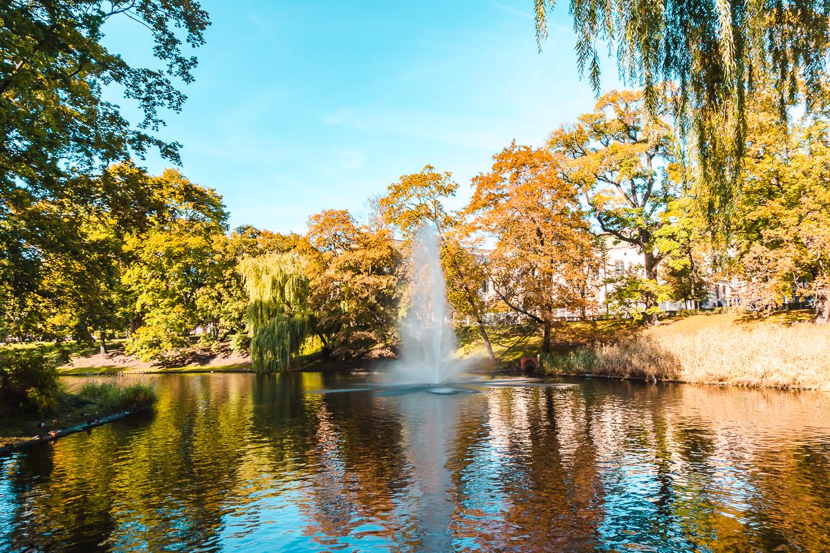 Bastejkalns Park in Riga, Latvia